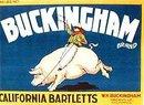 Buckingham Citrus Crate label