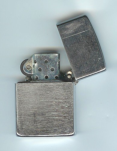 Vintage CHROME FLIP TOP GREASER Lighter 1950s JAPAN