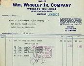Wrigley Gum Billhead Invoice