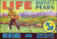 Life Bartlett Pears Fruit Crate Label
