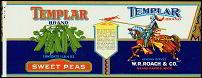 Templar Sweet Peas Vegetable Label
