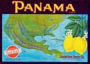 Panama Lemon Citrus Crate Label