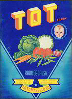 Tot Vegetable Lettuce Baby Label