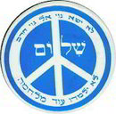 Hebrew Peace Poltical Pin