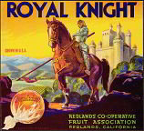 Royal Knight SUNKIST ORANGE Citrus Crate LABEL