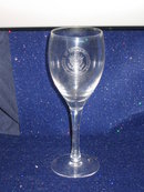 VINTAGE EMBOSSED WHITE HOUSE DRINKING GLASS