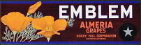 Emblem Poppies Grape Label