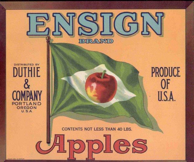 Ensign Apple Crate Citrus Label