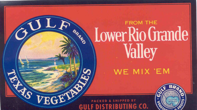 Lower RIo Grande Crate Label