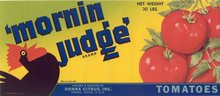 Morning Judge Rooster Can Label