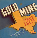 Texas Gold Mine Crate Label