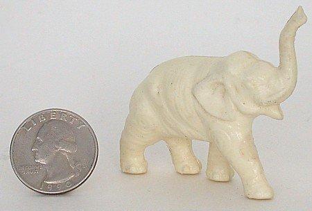 Celluloid White Elephant Toy Keychain