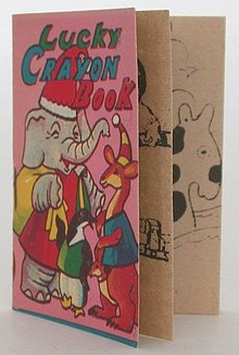VINTAGE JAPAN LUCKY CRAYON BOOK TOY