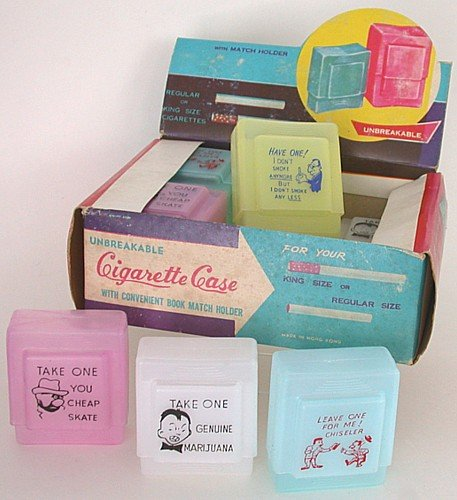 Novelty Cigarette Cases Display