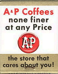 VINTAGE A&P GROCERY STORE MATCHBOOK / COFFEE