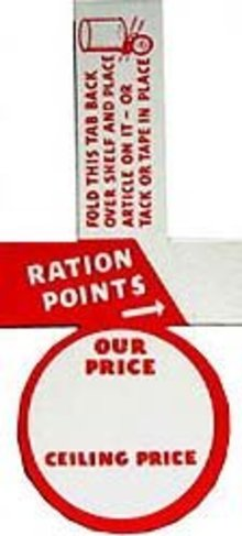 WW2 Ration Signs
