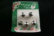 VINTAGE JINGLE BELLS ORNAMENTS ON CARD