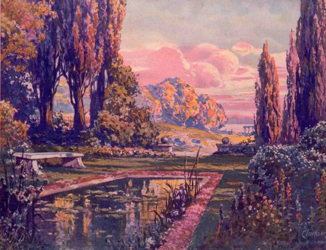 Maxfield Parrish Art Deco Print 1920S