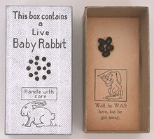 Toy Live Rabbit Joke Box Novelty Toy