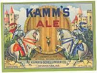 Kamm's Beer Label