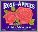 Rose Brand Apple Crate Label