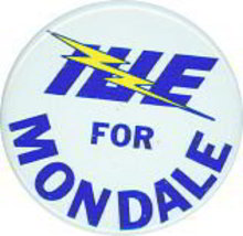 Walter Mondale Electrical Union Pinback Pin