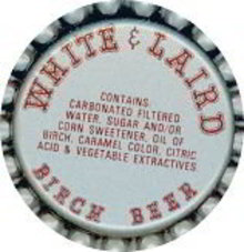 White & Laird Birch Beer Soda Bottle Caps