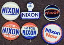 President Richard Nixon Pinback Pins