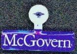 George McGovern Political Tin Tags
