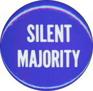 Silent Majority Pin - Small Nixon