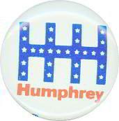 Hubert Humphrey Pinback Pins
