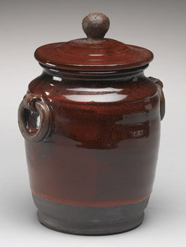 NEW EARTHENWARE POTTERY POT WITH LID MINT