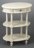 DISTRESSED WHITE PAINTED END TABLE NEW