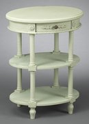 DISTRESSED SAGE GREEN PAINTED END TABLE NEW