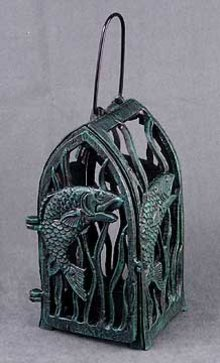 CAST IRON FISH CANDLE HOLDER