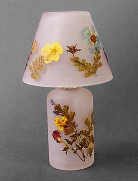 PRESSED FLOWER CANDLE HOLDER NEW