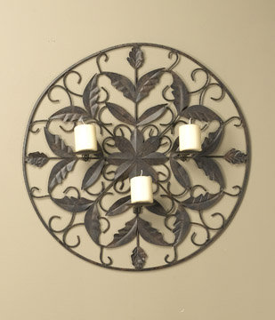 METAL WALL CANDLE HOLDER DECORATION DECOR / NEW