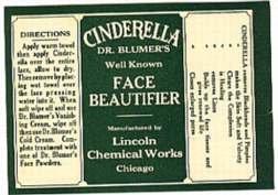 Cinderella Face Beauty Label