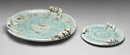 2 NEW DISTRESSED MINT KITCHEN PLATES
