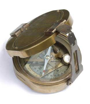 Brass Finish Compass - Brand New