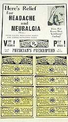 VINTAGE HEADACHE MEDICINE STORE DISPLAY BOX