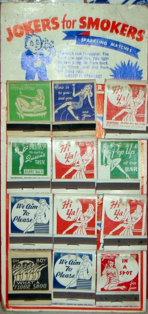 Jokers Smokers Trick Matchbook Matches Display