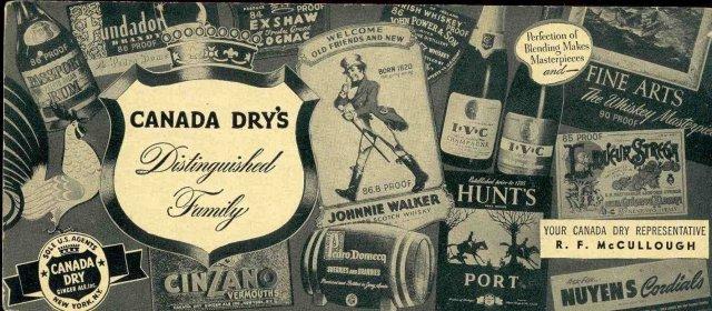 Canada Dry Gingerale Soda Blotter 1930s