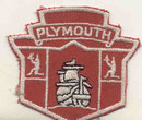 VINTAGE PLYMOUTH CAR PATCH  1940S