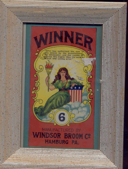 Framed Winner Broom Label Art Picture