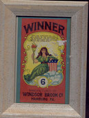 Framed Winner Broom Label Art Picture
