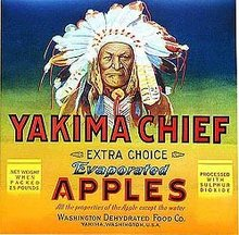Yakima Apple Crate Label