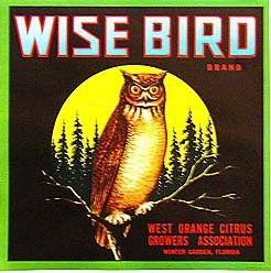 Wise Bird Crate Label