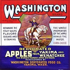VINTAGE GEORGE WASHINGTON APPLES CRATE LABEL