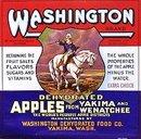 VINTAGE GEORGE WASHINGTON APPLES CRATE LABEL